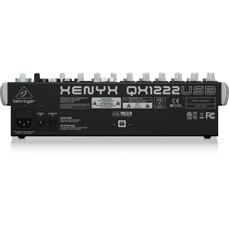 Behringer Xenyx QX1222USB Mixer analogico con 16 ingressi