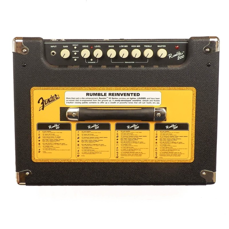 Fender Rumble 200 (V3) Black/Silver