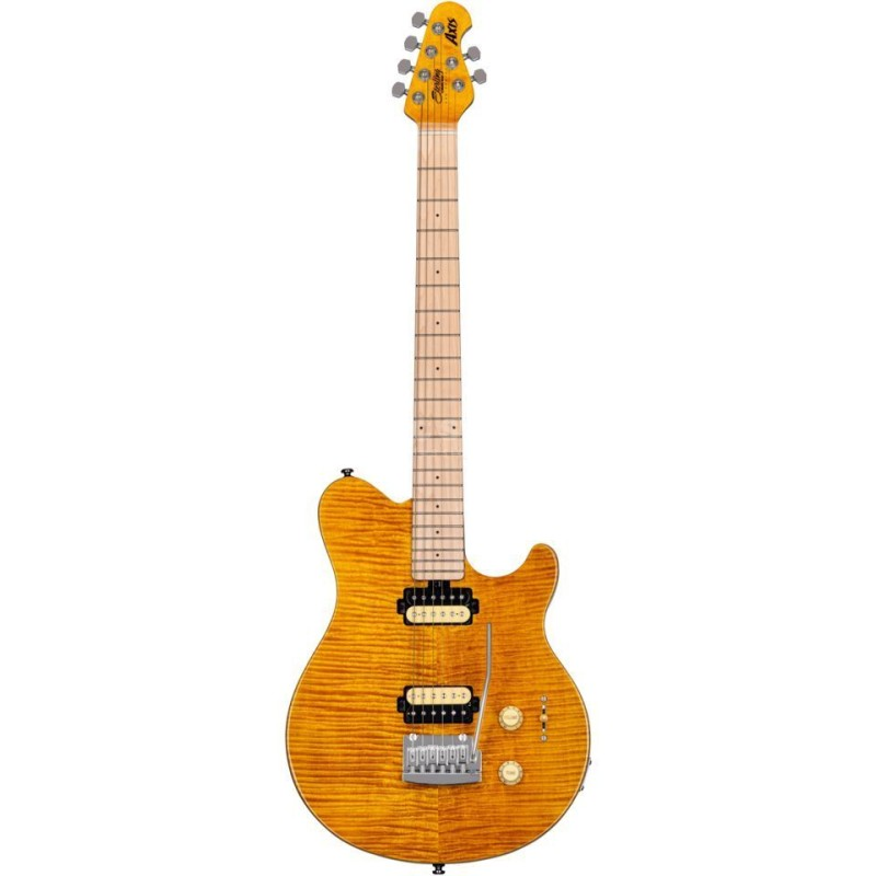 Sterling by Music Man Axis Flame Maple Top Trans Gold