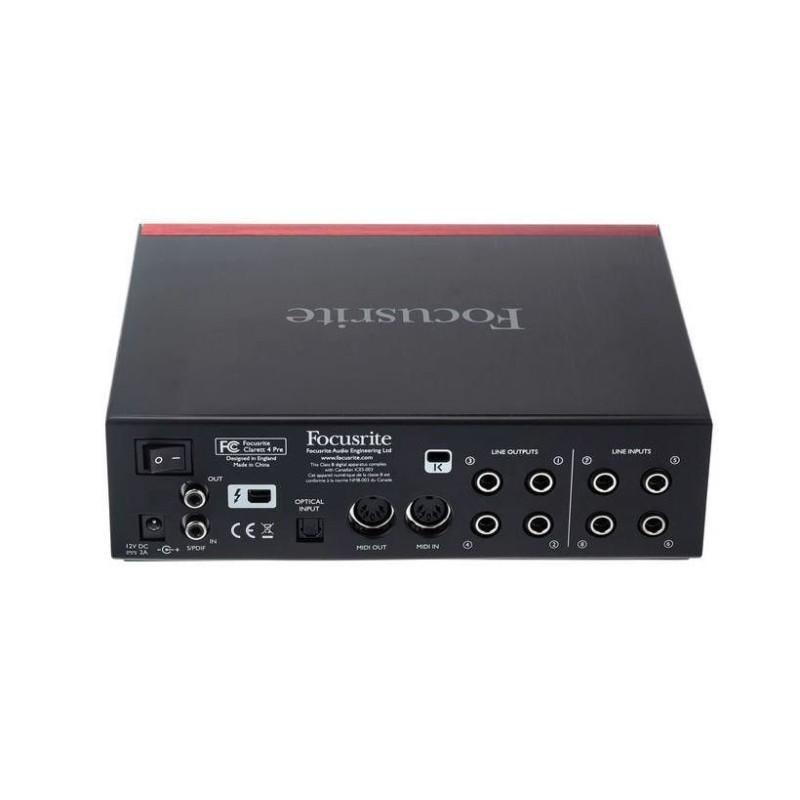 Focusrite Clarett 4PRE Scheda Audio Thunderbolt